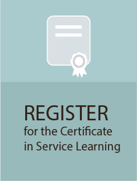 register icon for certificate in service learning